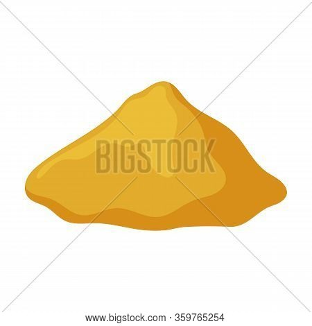 Sand Pile Vector Icon.cartoon Vector Icon Isolated On White Background Sand Pile.