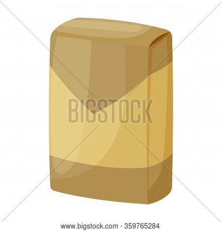 Sack Cement Vector Icon.cartoon Vector Icon Isolated On White Background Sack Cement.