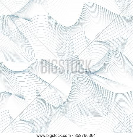 Seamless Techno Pattern. Abstract Chaotic Squiggles. Textured Intricate Background. Vector Line Art