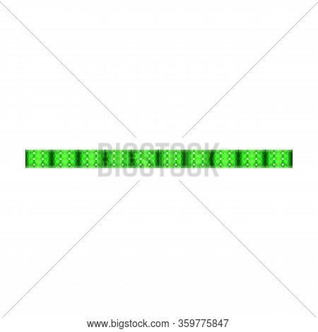 Led Light Vector Icon. Realisticvector Icon Isolated On White Background Led Light.