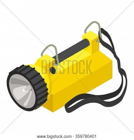 Rescue Flashlight Icon. Isometric Of Rescue Flashlight Vector Icon For Web Design Isolated On White