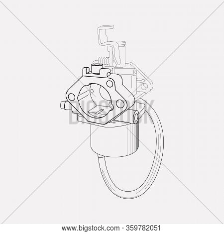 Carburetor Icon Line Element. Illustration Of Carburetor Icon Line Isolated On Clean Background For