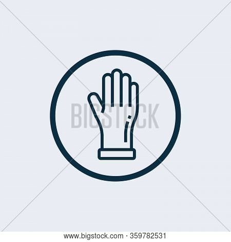 Gloves Icon Isolated On White Background From Hygiene Collection. Gloves Icon Trendy And Modern Glov