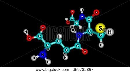 Glutathione Or Gsh Is An Antioxidant In Plants, Animals, Fungi, And Some Bacteria And Archaea. 3d Il