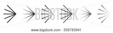 Spray Icons. Set Of Spray Cloud Icons. Vector Illustration. Water Spray Icons Isolated.