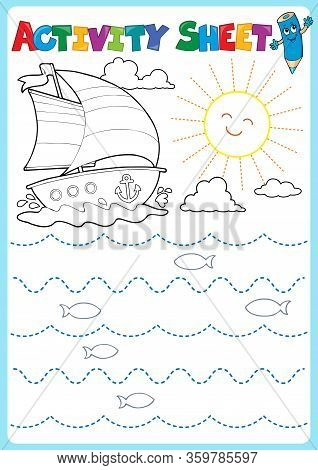 Activity Sheet Topic Image 2 - Eps10 Vector Picture Illustration.