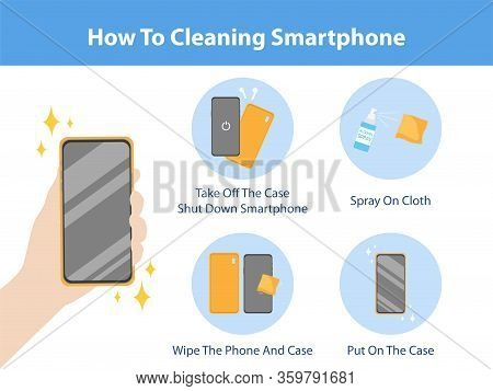 How To Cleaning Smartphone By Spraying Alcohol Spray Kill Virus For Prevent Corona Virus, Health Car