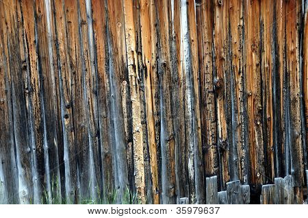 Wooden Wall Of Shed