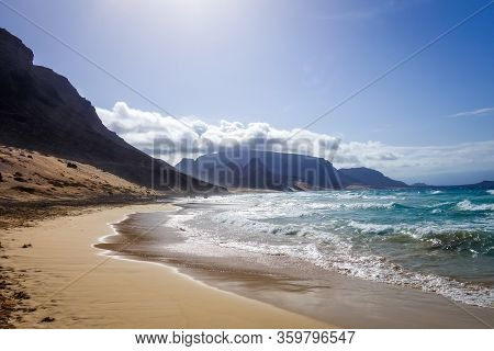 Baia Das Gatas Beach On Sao Vicente Island, Cape Verde, Africa