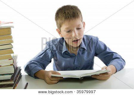 Child Making The Homework