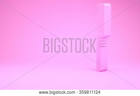 Pink Medical Saw Icon Isolated On Pink Background. Surgical Saw Designed For Bone Cutting Limb Amput