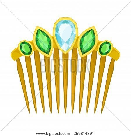 Hairgrip Or Hairclip As Girlish Personal Accessory For Grooming Vector Illustration