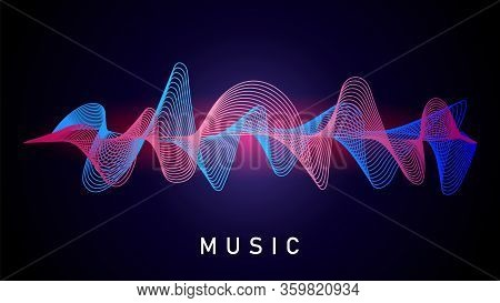 Sound Wave. Music Recording, Audio Equalizer. Technical Designation Of Recorded Voice, Musical Conve