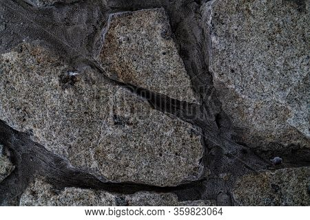Texture Of Rough Masonry From Rock Stones