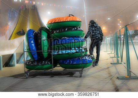 Inflatable Circles For Descent From The Mountain