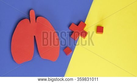 Lung Health Therapy Medical Concept . Lungs Operation Puzzle Concept Of Respiratory Disease, Pneumon