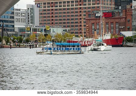 Baltimore, Md Usa September 9, 2008:  The Inner Harbor In Baltimore Md Is A Popular Place For Travel
