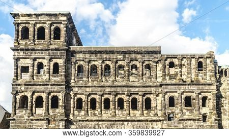 Trier, Germany - September 13, 2019 - Famous  Porta  Monument Destination In Trier Germany