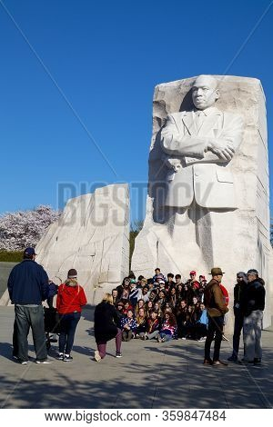 Washington Dc – April 4, 2019: Martin Luther King Jr. Memorial Is Located In West Potomac Park Washi