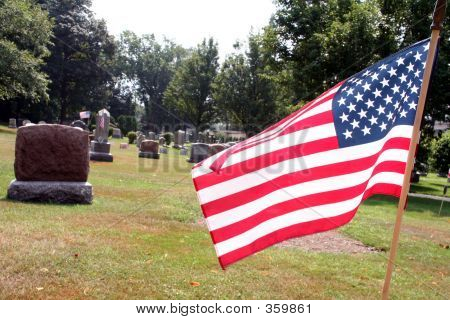 an american grave site / yard poster
