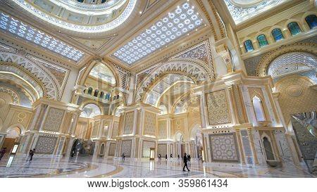 Abu Dhabi, Uae - December 15, 2019: Presidential Palace, Palace Of Qasr Al-watan The Palace Of The N