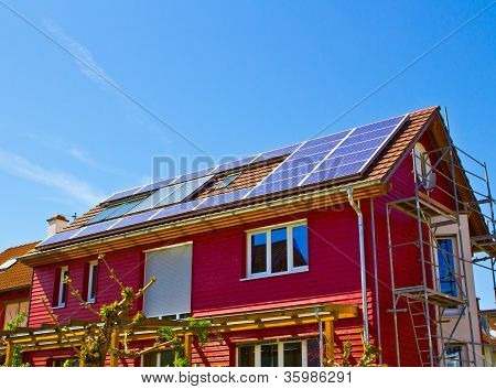 Solar Roof On A House