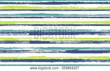 Ink Handdrawn Straight Lines Vector Seamless Pattern. Old Texture Candy Wrap  Sweet Design. Grainy G