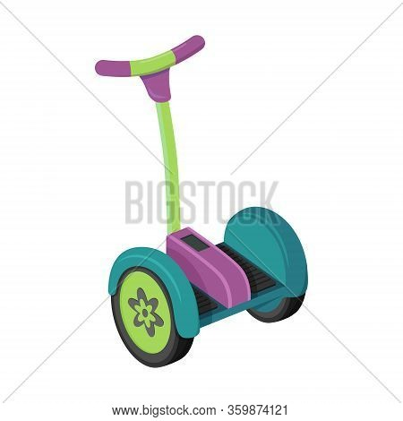 Electric Scooter.flat Style. Self-balance Transporter.vector Illustration.non-fuel, Non-polluting Ur