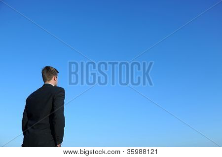 Businessman And Blue Sky