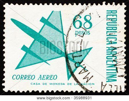 Postage stamp Argentina 1967 Symbolic Plane