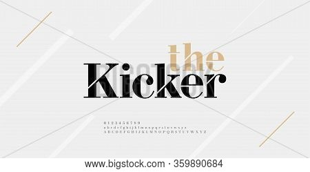 Modern Alphabet Letters Font And Number. Elegant Classic Urban Lettering Minimal Fashion Designs. Ty