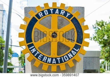Vicente Lopez, Argentina - December 21, 2019: Logo Of Rotary International