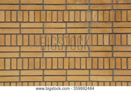 Brick wall of a building in art deco style