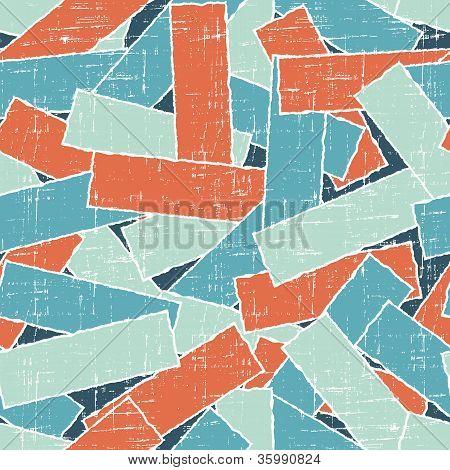 Torn scrach paper seamless pattern. Vector texture.