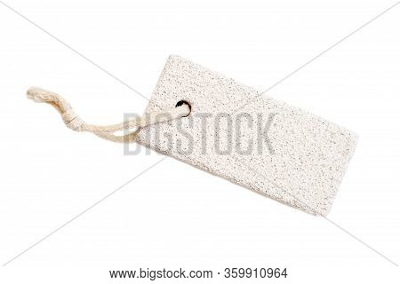 Pumice Stone For Feet Isolated On White Background
