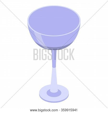 Champagne Coupe Icon. Isometric Of Champagne Coupe Vector Icon For Web Design Isolated On White Back