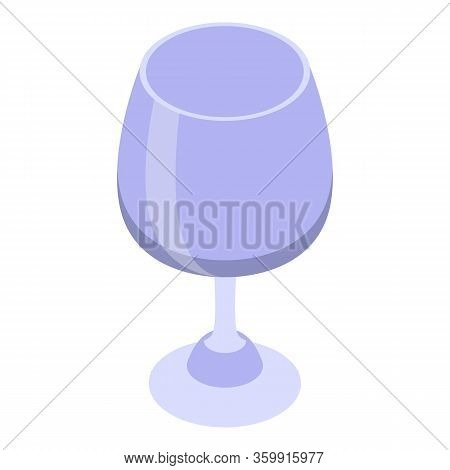 Snifter Glass Icon. Isometric Of Snifter Glass Vector Icon For Web Design Isolated On White Backgrou