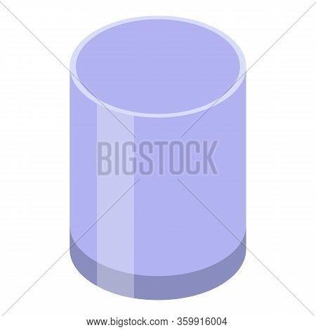 Whiskey Tumbler Icon. Isometric Of Whiskey Tumbler Vector Icon For Web Design Isolated On White Back