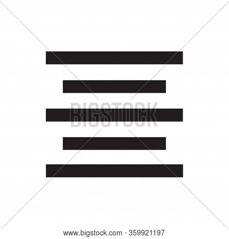 Center Alignment Icon Isolated On White Background. Center Alignment Icon In Trendy Design Style For