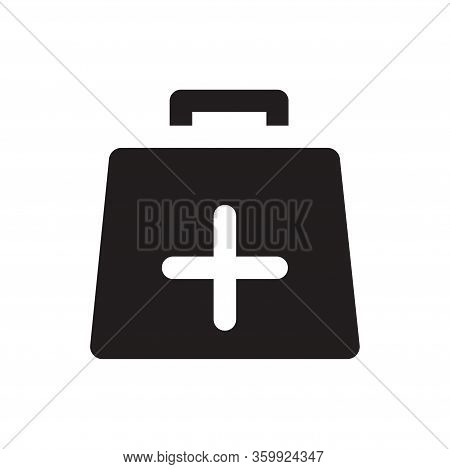 First Aid Kit Icon Isolated On White Background. First Aid Kit Icon In Trendy Design Style For Web S