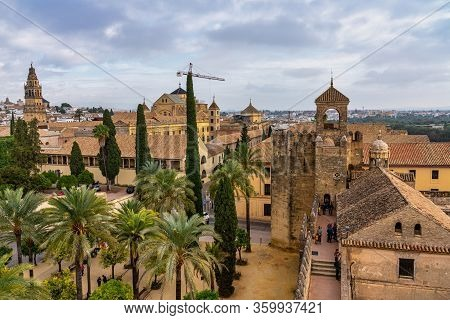 Cordoba, Spain - October 31, 2019: Alcazar De Los Reyes Cristianos, Alcazar Of The Christian Monarch