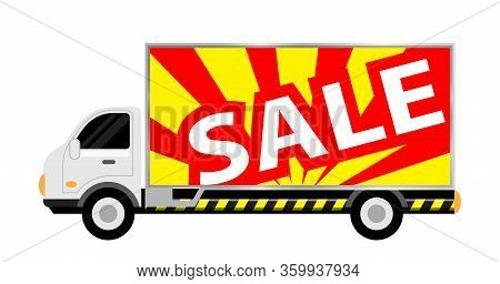 Car Truck With Billboards Sale Text For Banner, Large Billboard Sign On Side Truck, Mobile Truck For