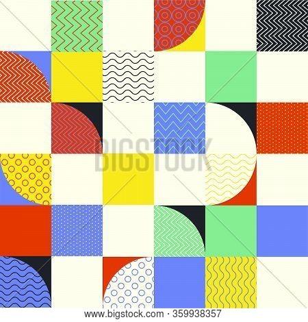 Abstract Mid-century Style Seamless Pattern