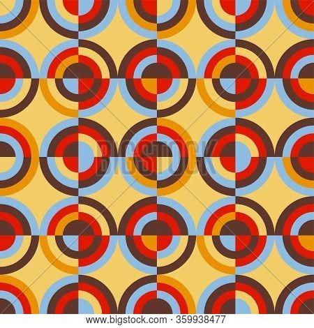 Round Retro Colors Geometric Rapport