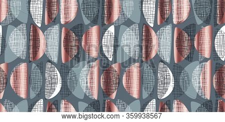 Mid Century Vibes Modern Style Seamless Pattern
