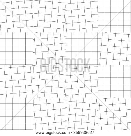 Black Snd White Abstract Plaid Seamless Pattern