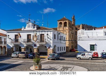 Segura De Leon, Spain - Nov 07, 2019: Main Square Of Segura De Leon, Extremadura, Spain
