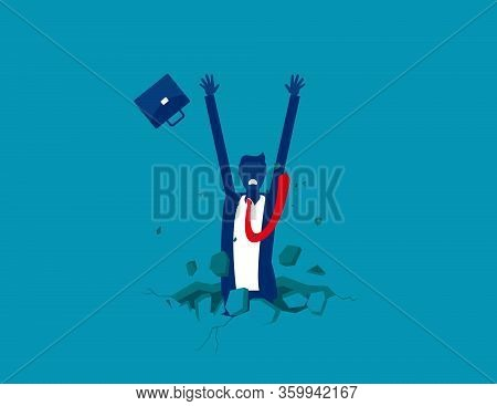 The Trap. Fall Into A Trap.concept Business Vector Illustration.