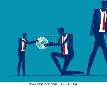 From Generation To The Next Generation. Business Succession Concept. Silhouette Vector Illustration