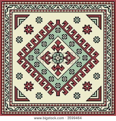 Armenian souvenir which patterns are taken from Van poster